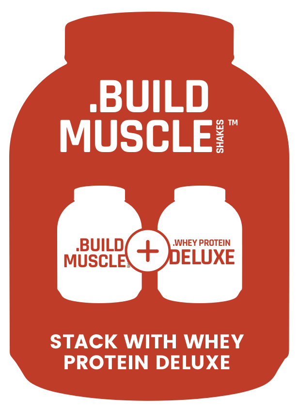 Muscle Shakes Build - Stack With Whey Protein Deluxe