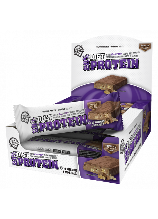 28% Diet Protein Bar - 12 x 50g Bars chocolote nut crisp