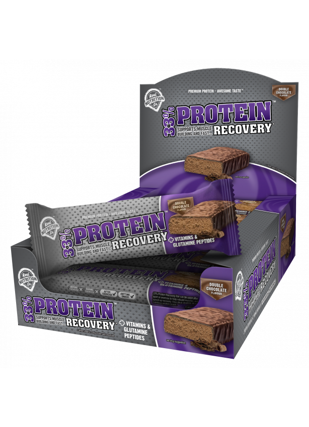 33% Protein Recovery Bar - 12 x 50g Bars Double Chocolate