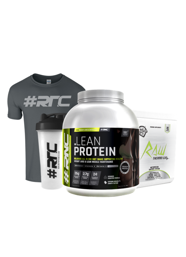 Lean Protein plus RAW Thermo-Lean Capsules Bundle