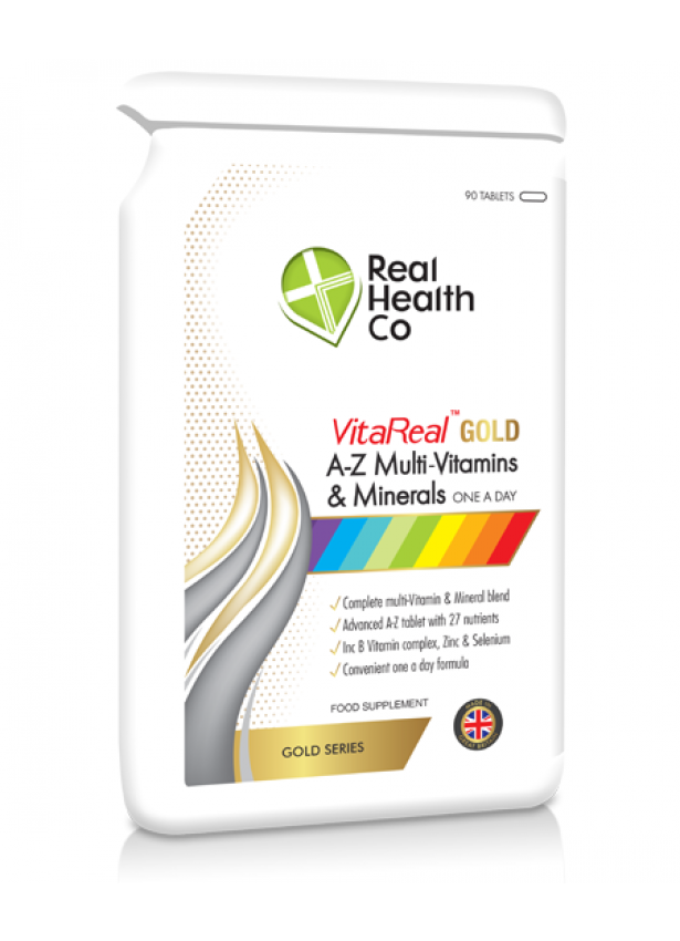 VitaReal Gold™ A-Z Multi Vitamin & Mineral Tablets