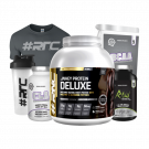 Whey Protein DELUXE 2kg, T-shirt & Shaker Bundle with BCAA, Creatine, Thermo-Pre or CLA