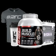 Muscle Shakes™ BUILD™ 1.87Kg, BCAA, T-shirt & Shaker Bundle